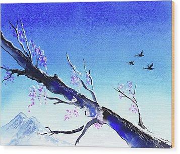 Spring In The Mountains Wood Print by Irina Sztukowski