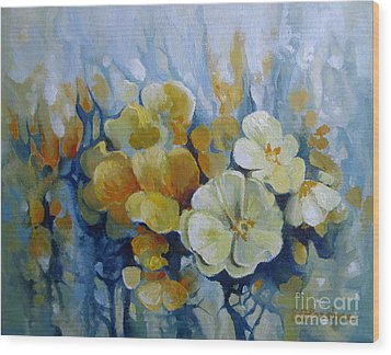Wood Print featuring the painting Spring Inflorescence by Elena Oleniuc