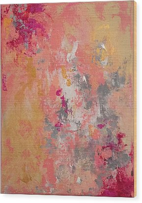 Wood Print featuring the painting Welcome Spring by Suzzanna Frank