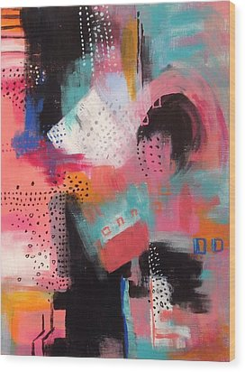 Wood Print featuring the painting Squiggles And Wiggles  #7 by Suzzanna Frank