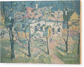 Spring Wood Print by Kazimir Severinovich Malevich
