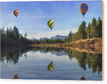 Spring Lake Wood Print by Ian Mitchell