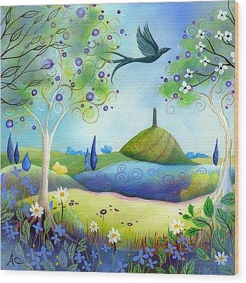 Spring Light Wood Print by Amanda Clark