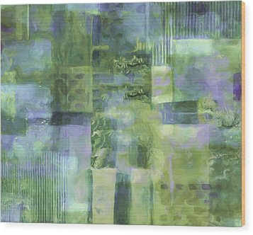 Spring Lime Wood Print by Lee Ann Asch