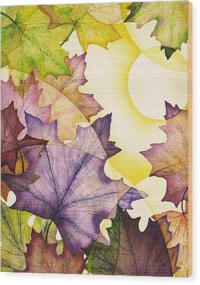 Spring Maple Leaves Wood Print by Christina Meeusen