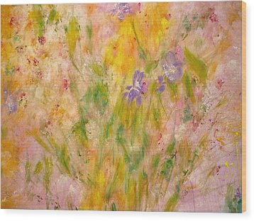 Spring Meadow Wood Print by Claire Bull