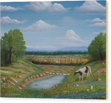 Wood Print featuring the painting Spring Morning by Gene Gregory