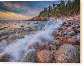 Spring Morning In Acadia National Park Wood Print by Rick Berk
