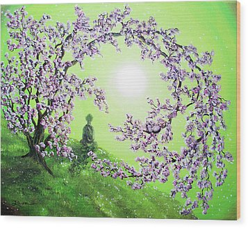Spring Morning Meditation Wood Print by Laura Iverson