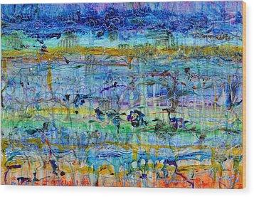 Spring On Jupiter And Mars Wood Print by Regina Valluzzi