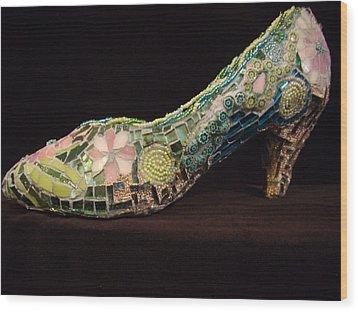 Spring On My Step Wood Print by Kimberly Barrow