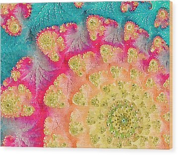 Wood Print featuring the digital art Spring On Parade by Bonnie Bruno
