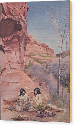 Spring On The Escalante Wood Print by Lester Nielsen