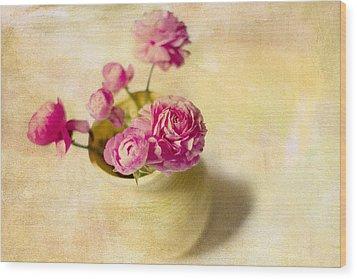Spring Please Wood Print by Rebecca Cozart