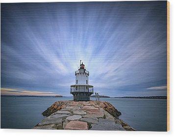 Spring Point Ledge Light Station Wood Print by Rick Berk