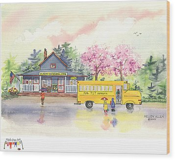 Spring Rain Wood Print by Melody Allen