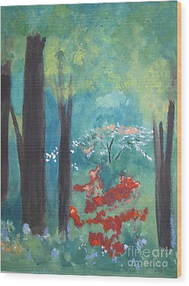Wood Print featuring the painting Spring by Sandy McIntire