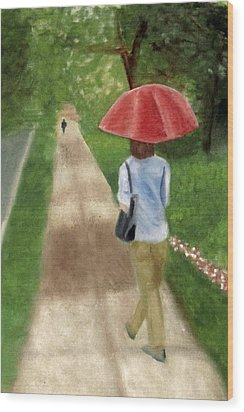 Wood Print featuring the painting Spring Series I by Patricia Cleasby