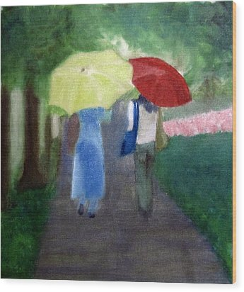Wood Print featuring the painting Spring Series Iv by Patricia Cleasby