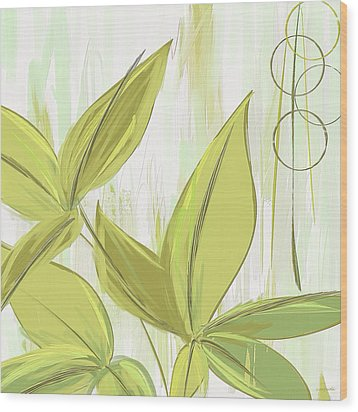Spring Shades - Muted Green Art Wood Print
