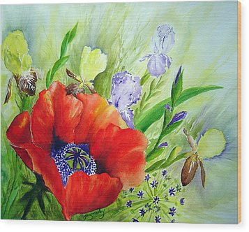 Spring Splendor Wood Print by Joanne Smoley