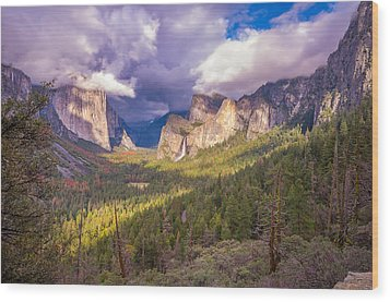 Wood Print featuring the photograph Spring Storm In Yosemite Valley by Scott McGuire
