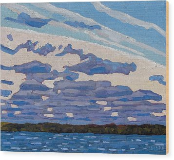 Spring Stratocumulus Wood Print by Phil Chadwick