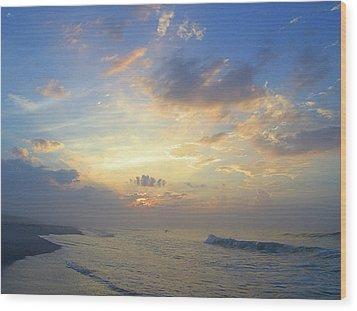 Spring Sunrise Wood Print