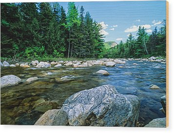 Spring-swift River Nh Wood Print