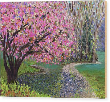 Spring Tree At New Pond Farm Wood Print