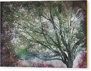 Wood Print featuring the painting Spring Tree by Gray  Artus