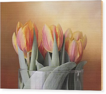 Spring Tulips Wood Print by Kathleen Holley