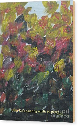 Spring Wood Print by Usha Rai