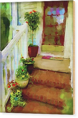 Spring Welcome Wood Print