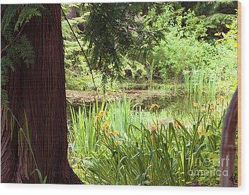 Spring Woodland Wood Print by Victoria Harrington