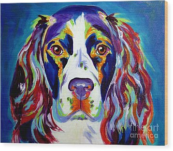 Springer Spaniel - Cassie Wood Print by Alicia VanNoy Call