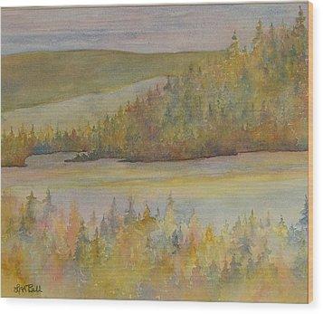 Springs In The Valley Wood Print by Lisa Bell