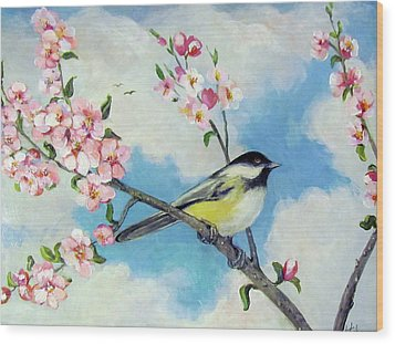 Wood Print featuring the painting Spring's Promise by Donna Tucker