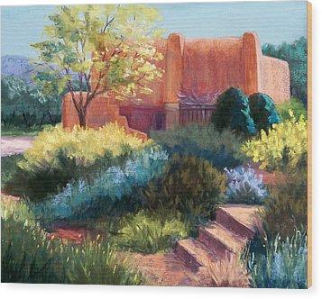 Springtime Adobe Wood Print by Candy Mayer