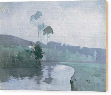 Wood Print featuring the painting Springtime by John Henry Twachtman