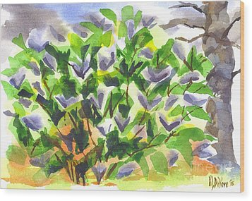 Wood Print featuring the painting Springtime Lilac Abstraction by Kip DeVore