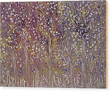 Springtime Painting Wood Print by Don  Wright