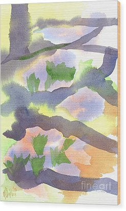 Wood Print featuring the painting Springtime Wildflower Camouflage  by Kip DeVore