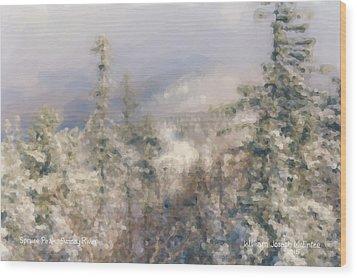 Spruce Peak Summit At Sunday River Wood Print