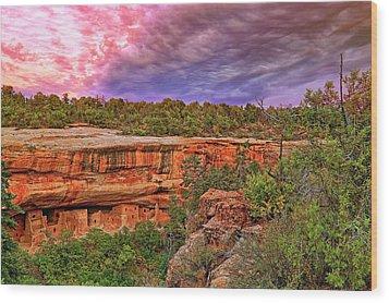 Spruce Tree House At Mesa Verde National Park - Colorado Wood Print by Jason Politte
