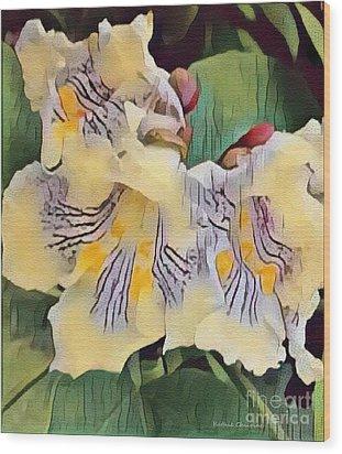 Spun Gold Wood Print by Kathie Chicoine