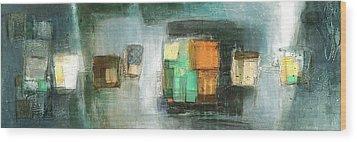 Square91.5 Wood Print