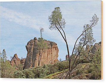Wood Print featuring the photograph Square Rock Formation by Art Block Collections