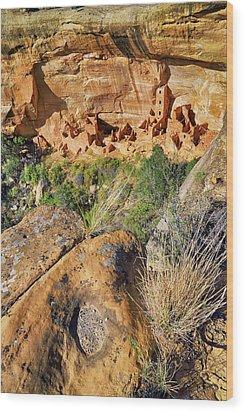 Square Tower House At Mesa Verde National Park - Colorado - Pueblo Wood Print by Jason Politte