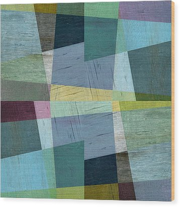 Squares And Shims Wood Print by Michelle Calkins